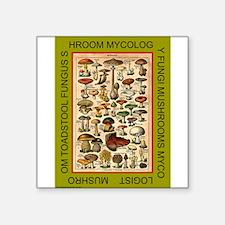 "MYCOLOGIST Square Sticker 3"" x 3"""
