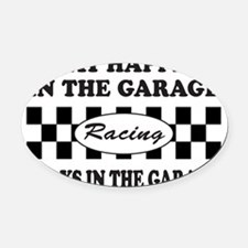 AUTO RACING Oval Car Magnet