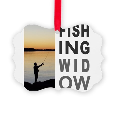 FISHING WIDOW Picture Ornament