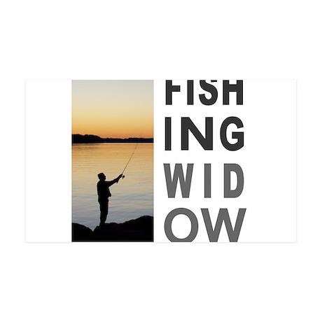 FISHING WIDOW 35x21 Wall Decal