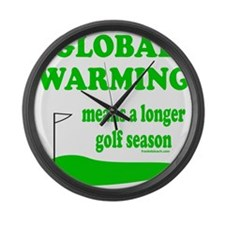 GOLFING Large Wall Clock