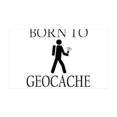 BORN TO GEOCACHE 35x21 Wall Decal