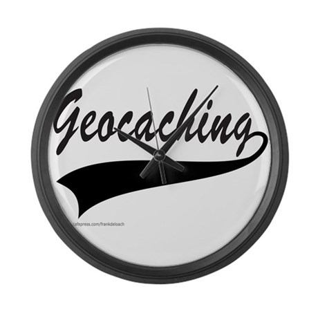 GEOCACHING Large Wall Clock