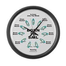 BORN TO SAIL Large Wall Clock