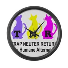 TRAP NEUTER RETURN Large Wall Clock
