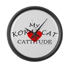 KORAT CAT Large Wall Clock
