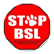 STOP BSL Round Car Magnet