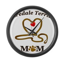 AiredaleTerrierMom.png Large Wall Clock