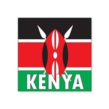 "Kenya Square Sticker 3"" x 3"""