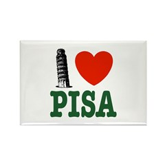 I Love Pisa Rectangle Magnet