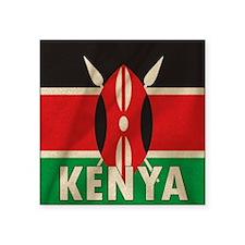 "Cute Kenyan Square Sticker 3"" x 3"""