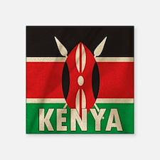 """Unique Kenyan Square Sticker 3"""" x 3"""""""