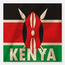"""Cute Kenya Square Car Magnet 3"""" x 3"""""""