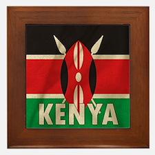 Funny Kenya Framed Tile