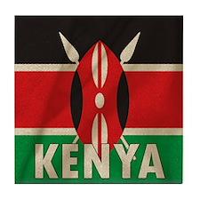 Cute Kenyan flag Tile Coaster