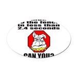 GuardDog.png Oval Car Magnet
