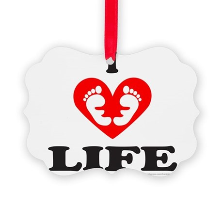 PRO-LIFE/RIGHT TO LIFE Picture Ornament