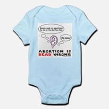 3-AbortionIsDeadWrong.png Infant Bodysuit