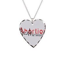 AbortionFlatLineNoBorder.png Necklace