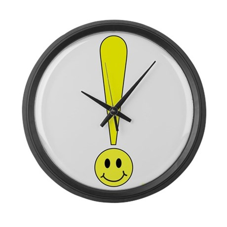 Smiley Face Large Wall Clock By Frankdeloach