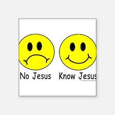 "NO KNOW Square Sticker 3"" x 3"""
