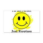 JUST FORGIVEN 20x12 Wall Decal