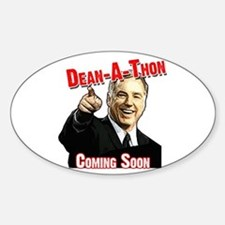 """""""Howard Dean for President"""" Oval Decal"""