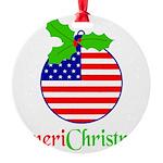 AMERICHRISTMAS Round Ornament