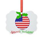 AMERICHRISTMAS Picture Ornament