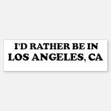 Rather: LOS ANGELES Bumper Bumper Bumper Sticker