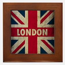 Vintage Union Jack Framed Tile
