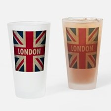 Vintage Union Jack Drinking Glass