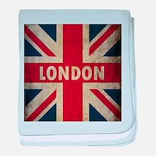 Vintage Union Jack baby blanket