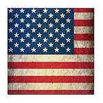 Vintage USA Flag Tile Coaster