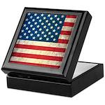 Vintage USA Flag Keepsake Box