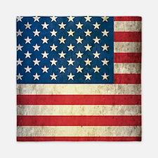 Vintage USA Flag Queen Duvet