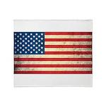 Vintage USA Flag Throw Blanket