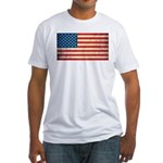 Vintage USA Flag Fitted T-Shirt