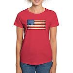 Vintage USA Flag Women's Dark T-Shirt