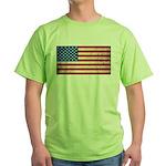 Vintage USA Flag Green T-Shirt