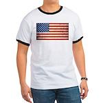 Vintage USA Flag Ringer T