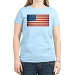 Vintage USA Flag Women's Light T-Shirt