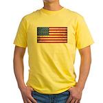 Vintage USA Flag Yellow T-Shirt