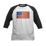 Vintage USA Flag Kids Baseball Jersey
