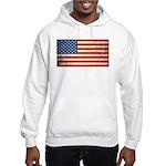 Vintage USA Flag Hooded Sweatshirt
