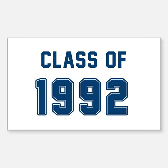 Class of 1992 Blue Decal