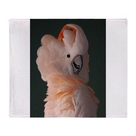 Moluccan Cockatoo Throw Blanket