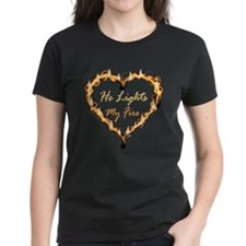 He Lights My Fire Couples Tee