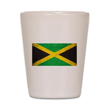 Vintage Jamaica Flag Shot Glass