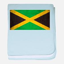 Vintage Jamaica Flag baby blanket